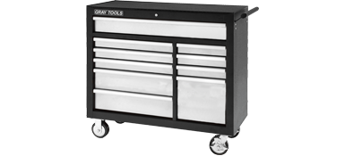 "ROLLER CABINET FOR TOOLS 8 DRAWERS 34"" x 19-1/2"" X 39-1/8"""