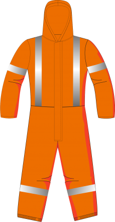 HIGH VISIBILITY PROTECTIVE COVERALL DISPOSABLE ORANGE